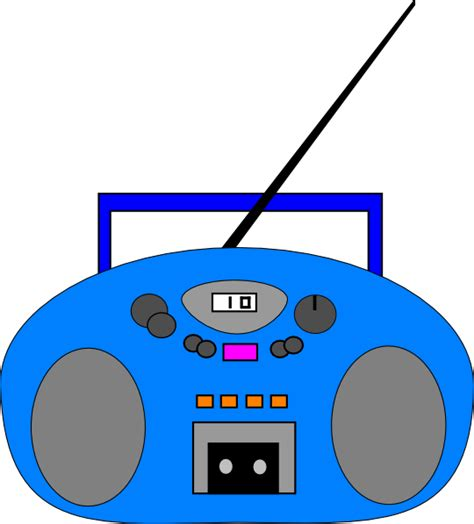 Radio Clipart Blue Radio Clip At Clker Vector Clip