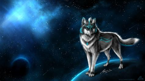 Hd Wallpaper Northern Lights Cool Wolf Backgrounds 58 Images