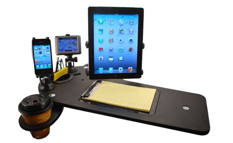 mobile desk for truck car desk and docking station for electronics journidock