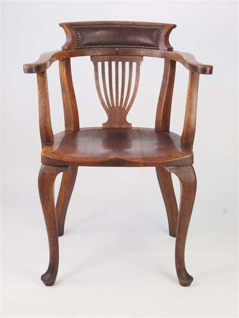 antique oak chair vintage oak desk chair 1292