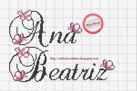 Amigas, hoje recebi aqui no blog um. Ana+Beatriz+7.JPG (1056×708)   Nomes em ponto cruz ...
