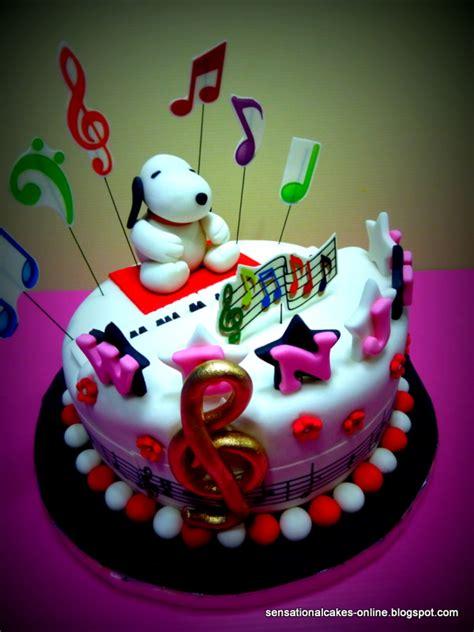 sensational cakes snoopy  cake singapore piano