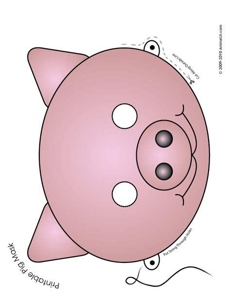 printable pig mask full color woo jr kids activities