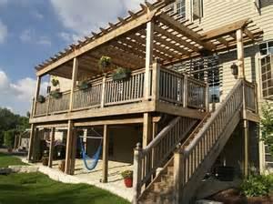 patio furniture covers 2 story descks and pergolas story pergola backyard ideas pergolas decking and
