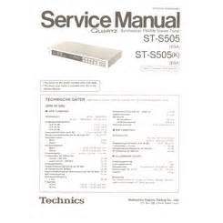 Visonik Wiring Diagram by St S505 Technics Service Manual Highqualitymanuals