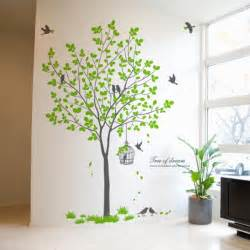 birdcage birds tree wall decals wallstickery com