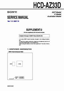 Sony Dhc-az33d  Hcd-az33d Service Manual