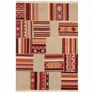 revgercom tapis salon rouge et beige idee inspirante With tapis kilim avec canapé microfibre ikea