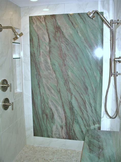 shower with granite wall contemporary bathroom ta