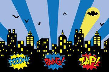 superhero backdrop superhero party super hero props etsy