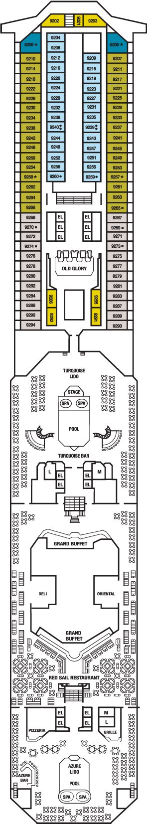 Carnival Splendor Lido Deck Plan by Carnival Cruise Review For Cabin 9202