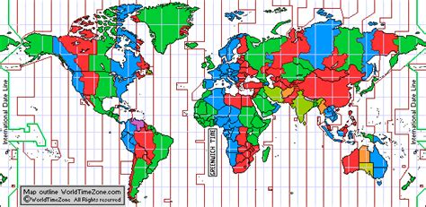 world time zones map standard time zone