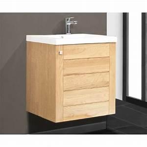 Meuble Vasque 60 : meuble salle de bain 60 x 40 ~ Teatrodelosmanantiales.com Idées de Décoration
