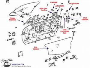 1985 Corvette Door Mechanics Parts