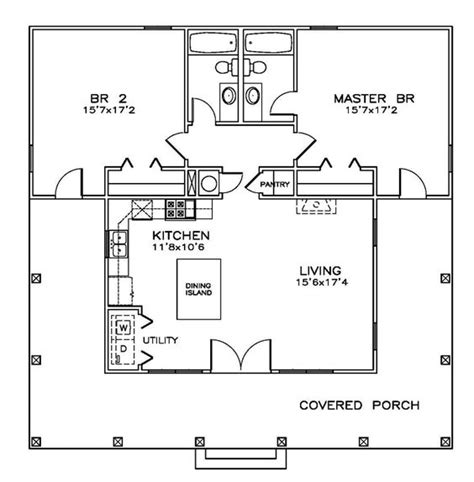 14x40 Mobile Home Floor Plans by 14x40 Cabin Floor Plans Cabin Free Home Plans