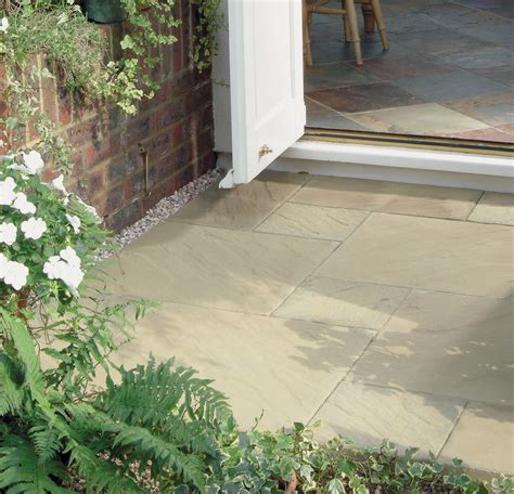 patio paving options brett paving manmade quorndon patio buff paving slabs single size options