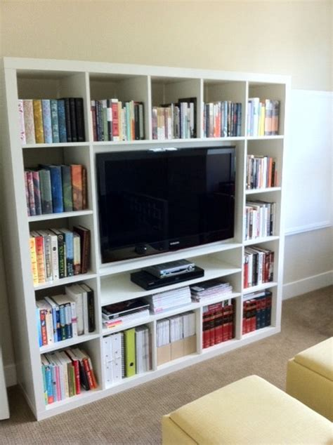 Billy Bookcase Tv Stand by Wall Mounting A 40 Quot Tv In Expedit Ikea Hackers Ikea
