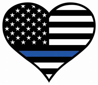 Police Heart Line Thin Officer Svg Clipart
