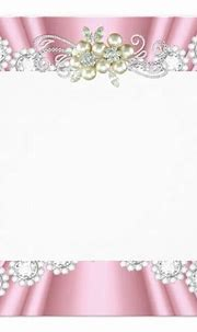 Elegant Light Pink Pearl White Diamond Birthday Invitation ...