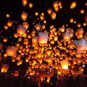Light Paper Lantern Festival Taiwan