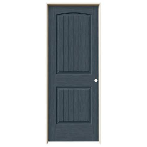 home depot jeld wen interior doors jeld wen 32 in x 80 in santa fe denim stain left hand solid core molded composite mdf single