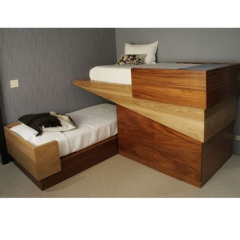 cool custom beds furniture white full over queen size bunk bed with storage unit unique design idea unique bunk