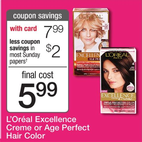 loreal hair color coupons coupons for loreal hair color products out deals