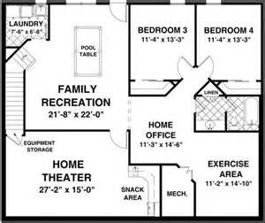 ranch home plans with basements best 25 basement floor plans ideas on