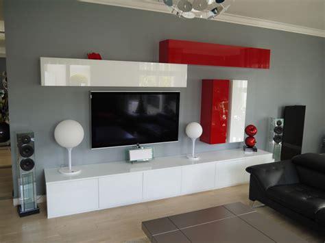 bureau avec rangements meuble pour votre living tv sur mesure