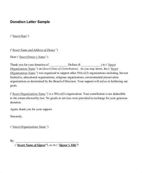 contribution letter format 10 sample donation thank you letters doc pdf free 20947 | Donation Thank You Letter