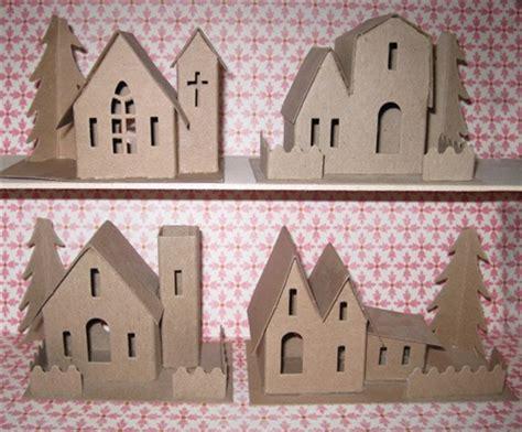 putz village kits assortment   houses  church