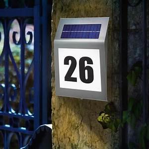 Hausnummer Beleuchtet Led : solar hausnummer beleuchtung 2 led hausnummernleuchte beleuchtet glas edelstahl ebay ~ Frokenaadalensverden.com Haus und Dekorationen