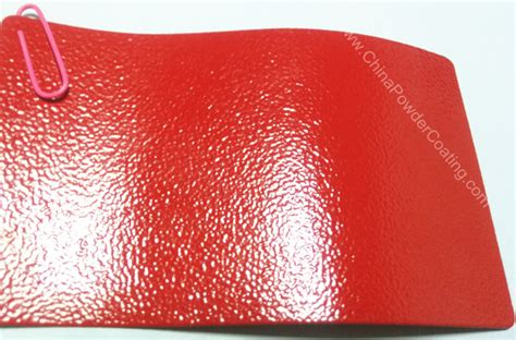 Traffic red wrinkle RAL3020 powder coating paint - China