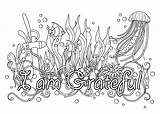 Coloring Affirmations Adult Behance sketch template