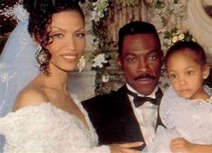 Eddie Murphy and his wife, Nicole Mitchell, with their ...