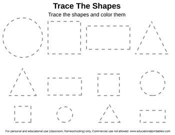 free tracing shapes worksheet teacher kindergarten shapes worksheets shape worksheets for