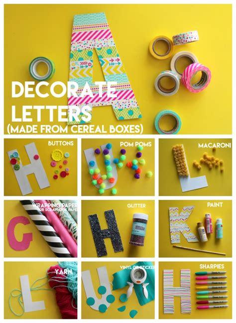 lacing letters diy kids craft  girl   glue gun