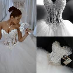 lace corset wedding dresses aliexpress buy luxury sheer lace wedding dress corset pearls sweetheart bridal