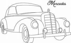 Line Drawing of old cars | Classic Muscle Car Coloring ...