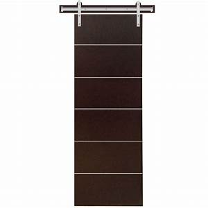 steves sons 24 in x 90 in modern stained hardwood With 24 inch sliding barn door