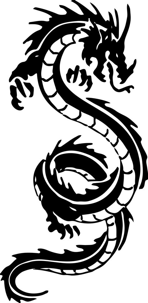 tribal dragon clipart - Clipground