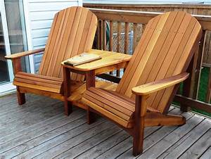 double adirondack chair woodworking plans – woodguides