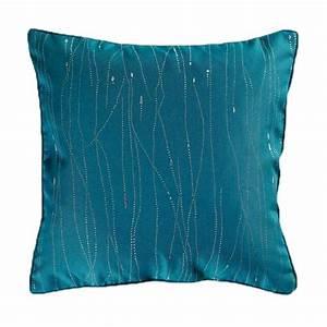 Deco Bleu Petrole : coussin d co filiane 60x60cm bleu p trole ~ Farleysfitness.com Idées de Décoration