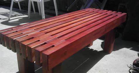 Diy Patio Bench Plans by Diy Redwood Garden Bench