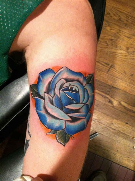 exclusive blue rose tattoos  designs