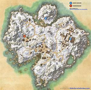 Bleakrock Isle Skyshards Map Elder Scrolls Online Guides