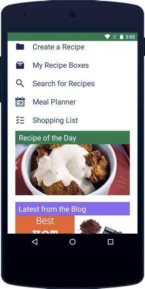 spoonacular meal planning app
