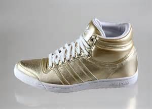 Gold Adidas High Tops