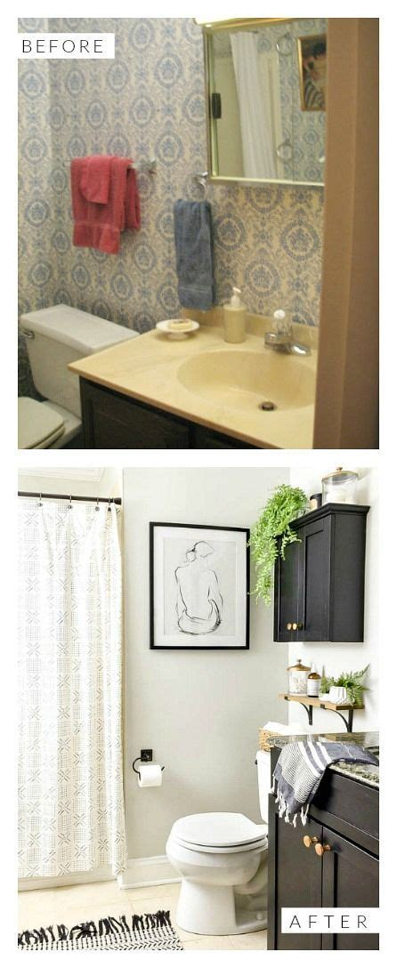 Modern Bathroom Budget by Budget Friendly Vintage Modern Bathroom Refresh