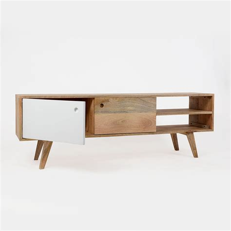 meuble tv scandinave bois massif laqué made in meubles